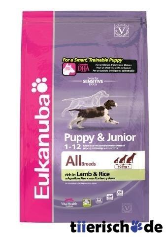 eukanuba puppy junior lamm und reis von eukanuba g nstig. Black Bedroom Furniture Sets. Home Design Ideas