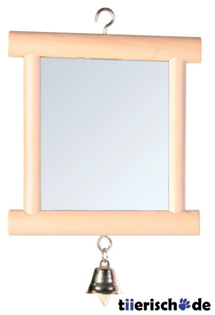 vogelk fig spiegel mit messingglocke 5860 von trixie. Black Bedroom Furniture Sets. Home Design Ideas