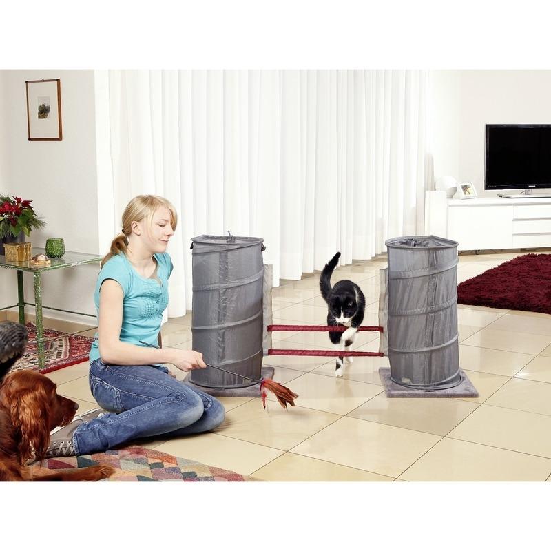agility set f r katzen mit clicker von karlie flamingo g nstig bestellen bei. Black Bedroom Furniture Sets. Home Design Ideas