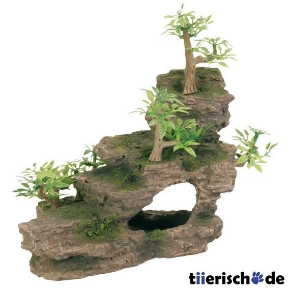 felsentreppe mit pflanzen f r aquarium 8852 von trixie. Black Bedroom Furniture Sets. Home Design Ideas