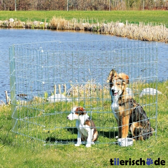 Welpengehege freigehege f r welpen welpenauslauf von - Recinto mobile per cani ...