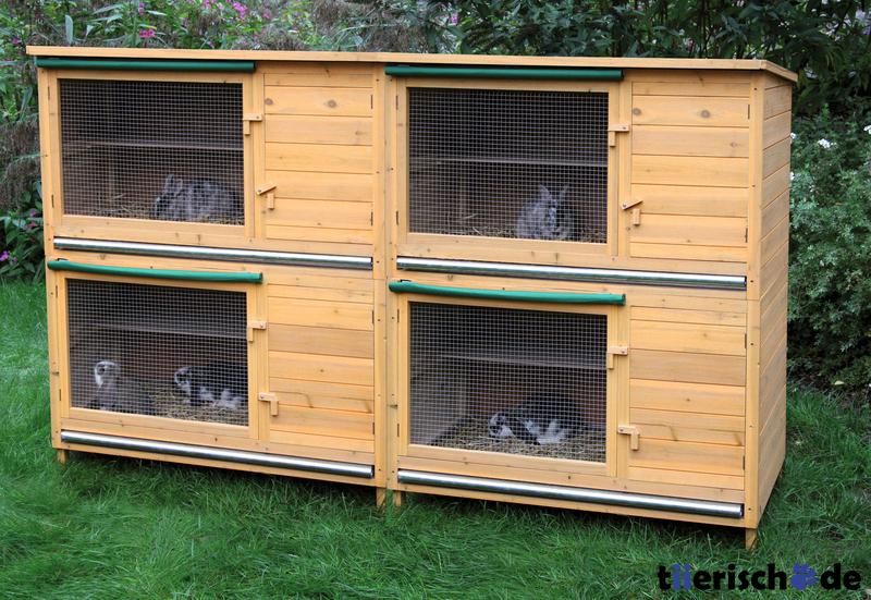 Hasenstall selber bauen, Eigenbau, Holz-Kaninchenkäfig Selbstbau ...