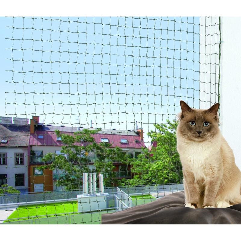 trixie cat protect katzenschutznetz 4 x 3 m preisvergleich katzenschutznetz g nstig kaufen. Black Bedroom Furniture Sets. Home Design Ideas