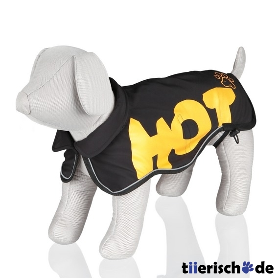 Trixie Softshell Hundemantel Hot Dog Avallon, M: R&#252;cken 45 cm, Brust 45?60 cm, schwarz/gelb