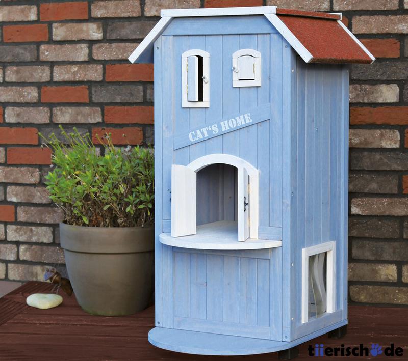 trixie katzenhaus cats home 44091 von trixie g nstig. Black Bedroom Furniture Sets. Home Design Ideas