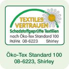 Öko-Tex Standard 100, Prüfnr.: 08-6223, Shirley