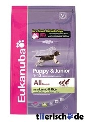 Eukanuba Puppy & Junior Lamm und Reis
