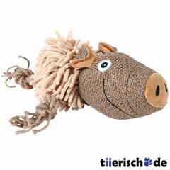 Schwein aus Plüsch, Hundespielzeug