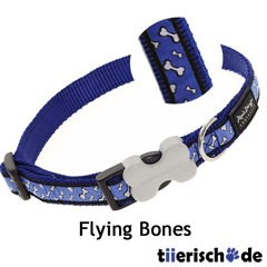 Red Dingo Hundehalsband Design Flying Bones