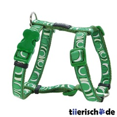 Hundegeschirr Red Dingo Full Color Circadelic Green