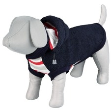 Fleecejacke für Hunde Assisi, S: Rücken 40 cm, Bauch 42 cm, blau