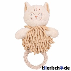 Katze mit Tauring, Plschspielzeug