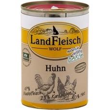 LandFleisch Wolf Hundefutter, 100% vom Rind 12x400g