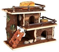 Raufutter Kleintier Häuschen mit Snacks