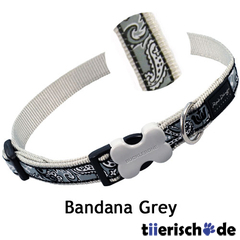 Red Dingo Halsband Design Bandana Grey