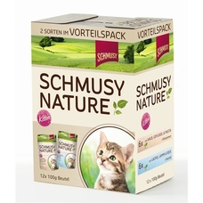 Schmusy Portionsbeutel Multibox Nature Kitten