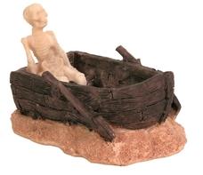 Skelett im Boot