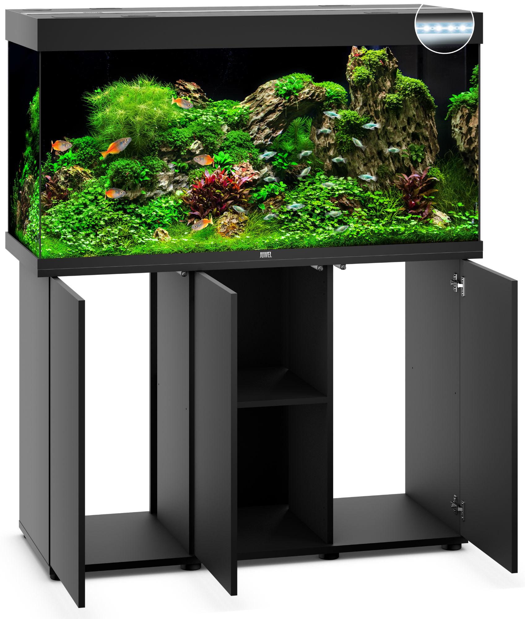 Juwel rio 350 led aquarium mit unterschrank ebay for Aquarium mit unterschrank