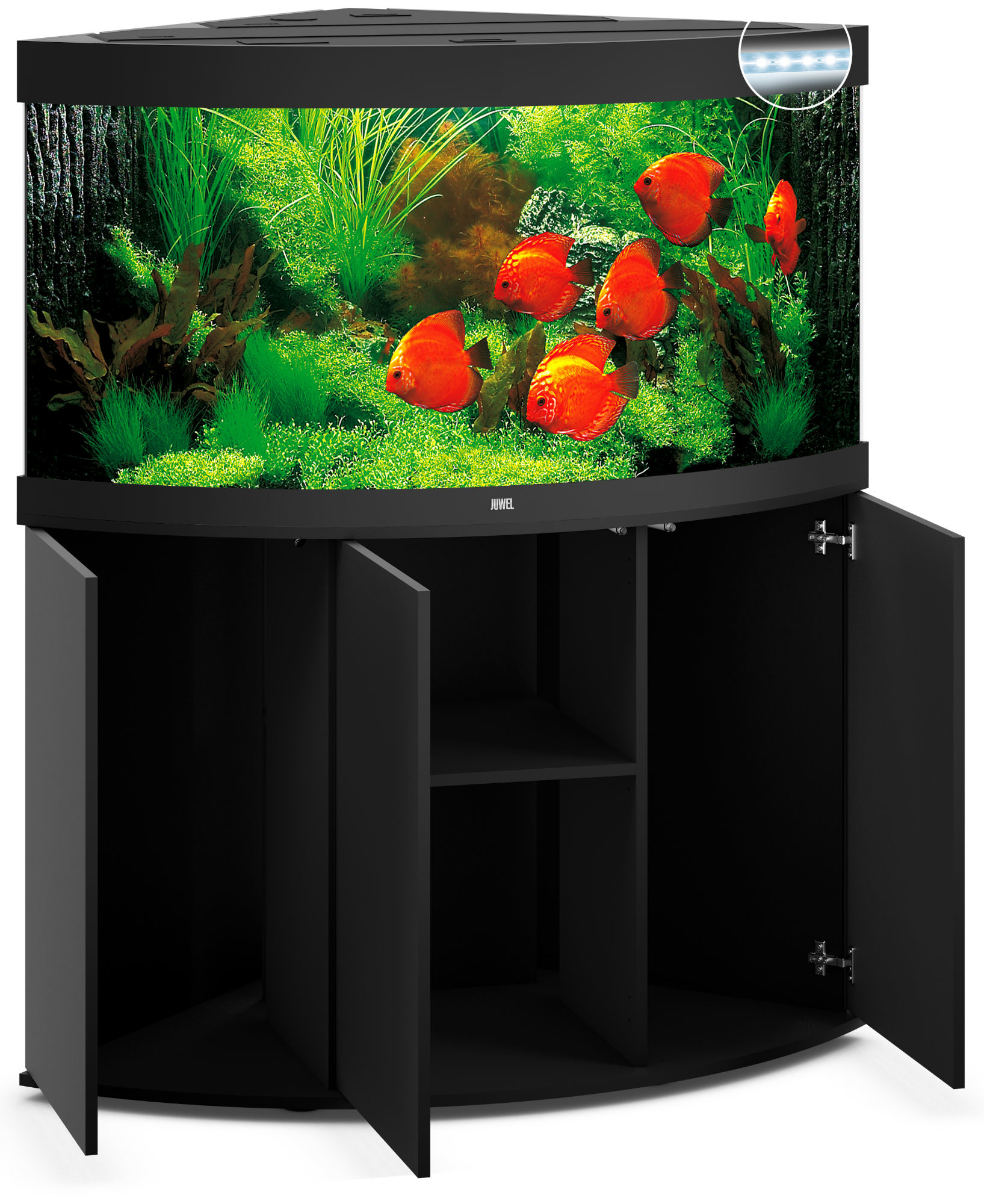 juwel trigon 350 led eck aquarium mit unterschrank ebay. Black Bedroom Furniture Sets. Home Design Ideas