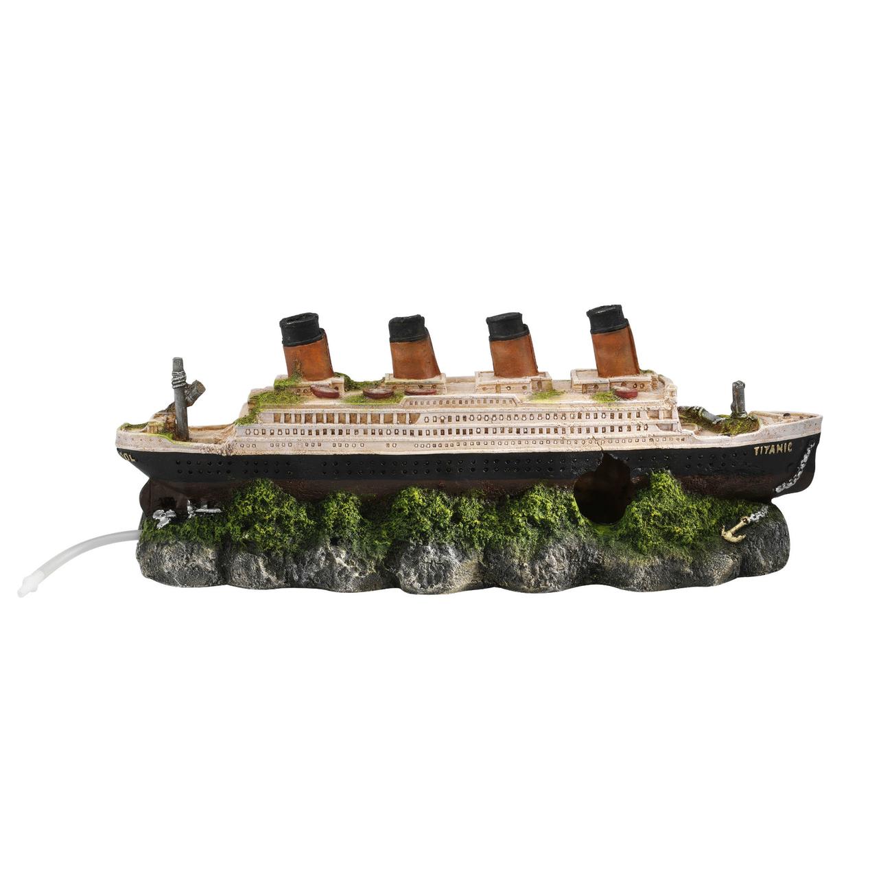 Aqua Della Titanic Schiffswrack Aquarium Deko Bild 1