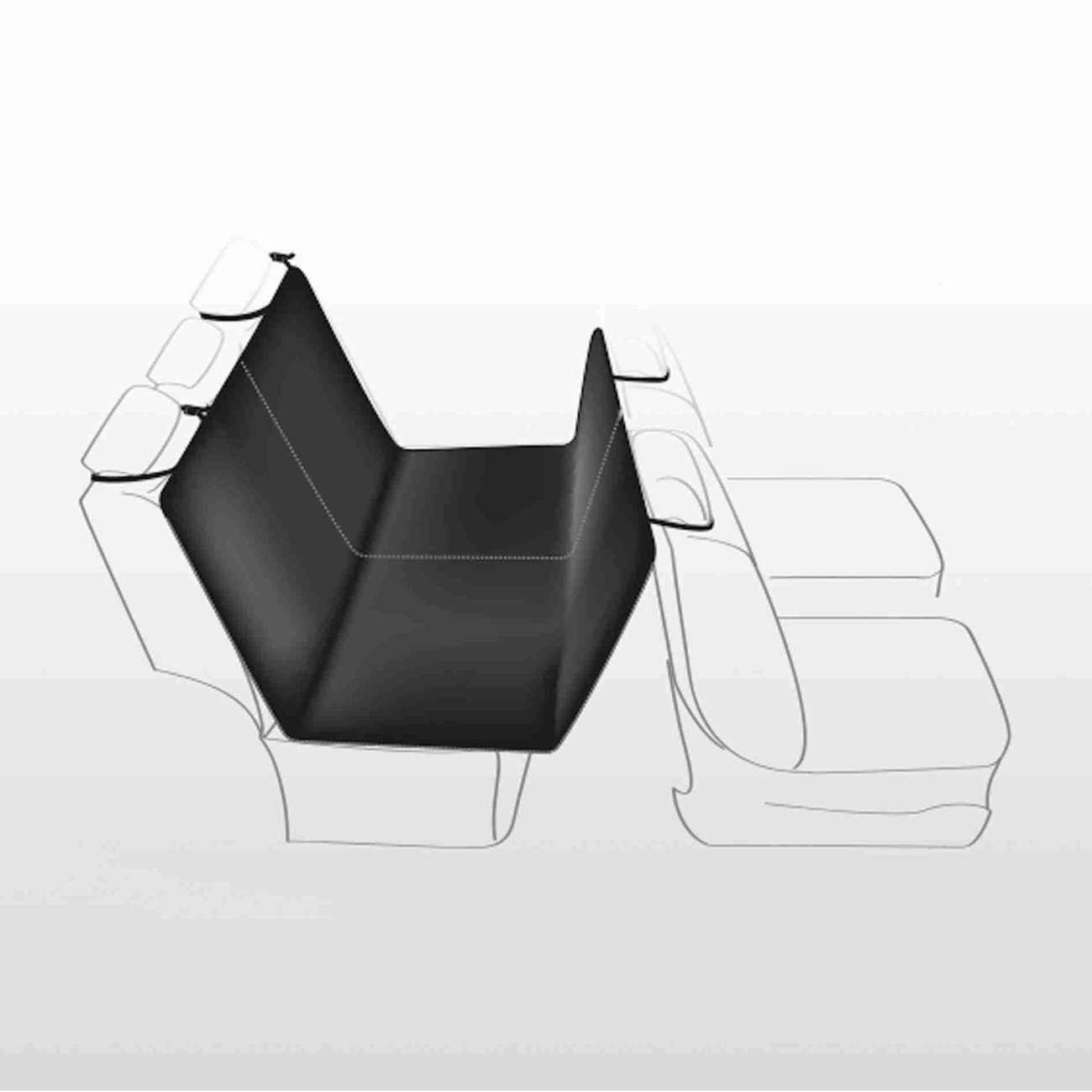 Auto Hundedecke mit Seitenteilen für Rücksitz Bild 3