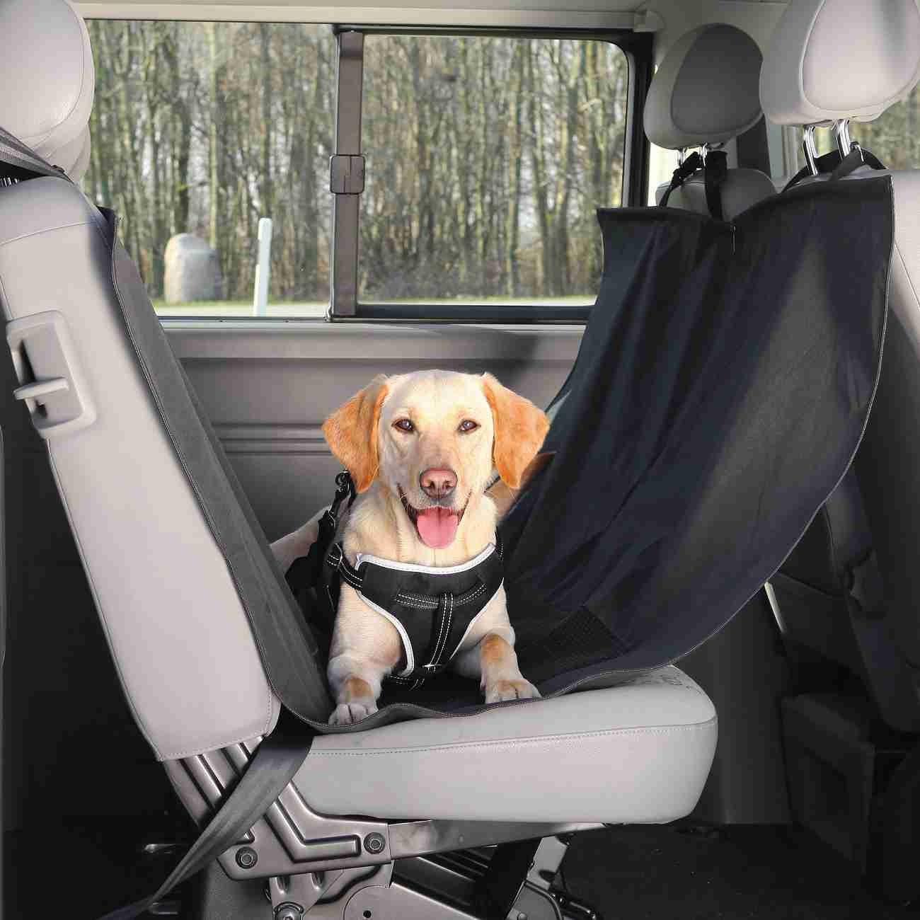 Auto Hundedecke mit Seitenteilen für Rücksitz Bild 2