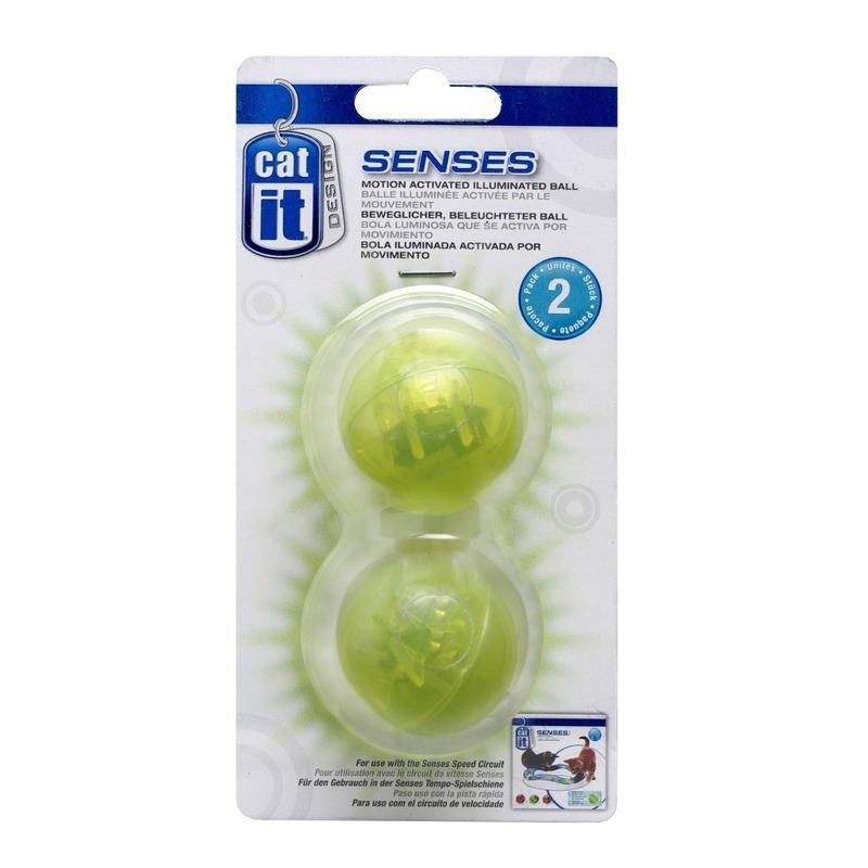 Beleuchteter Ball 2er Set für CatIt Senses Spielschienen Bild 1