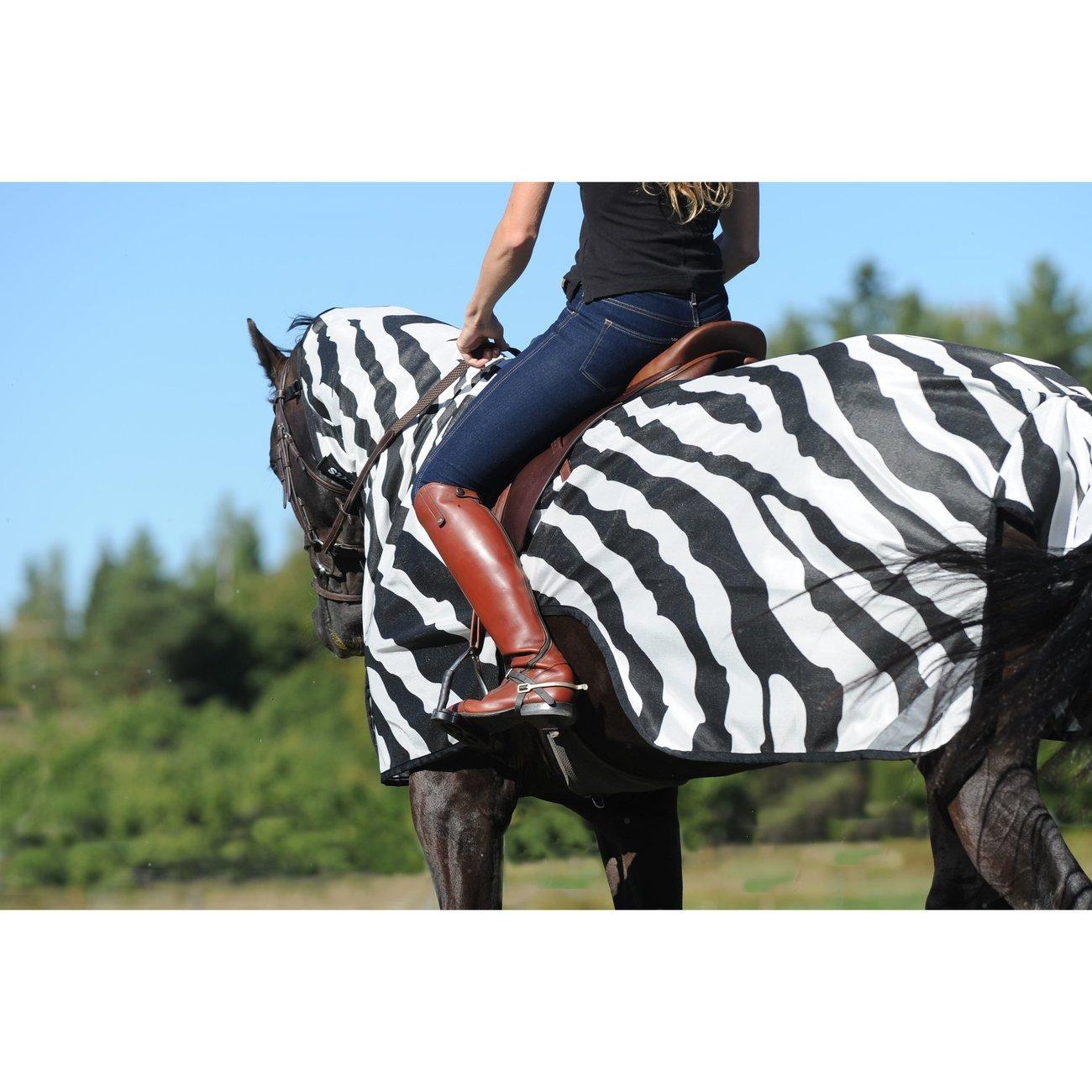 Buzz Off Riding Zebra Ausreitdecke Bild 3