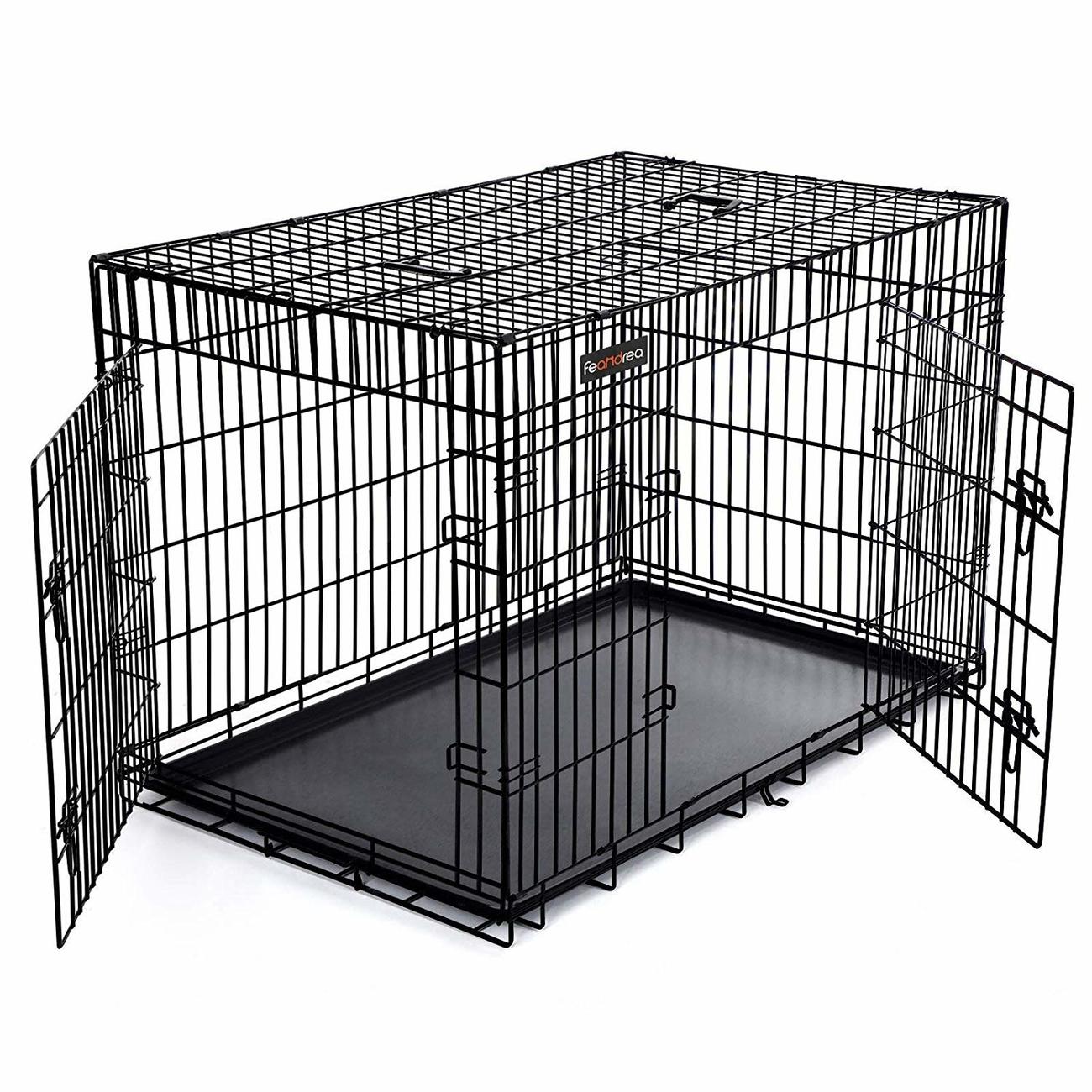 FEANDREA by SONGMICS Hundekäfig 2 Türen zusammenklappbar Bild 19
