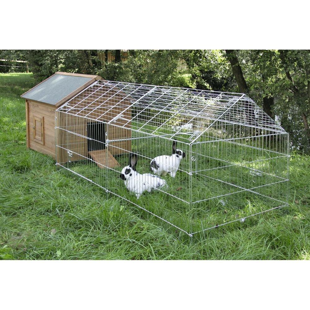 Freigehege für Kaninchen mit Sonnenschutz Bild 4