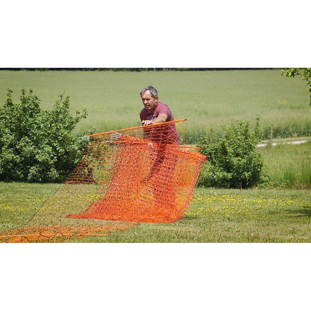 Geflügelnetz PoultryNet orange elektrifizierbar Bild 15