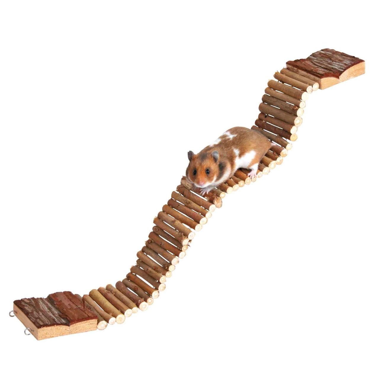 Hängebrücke für Hamster und Mäuse aus Holz Bild 2