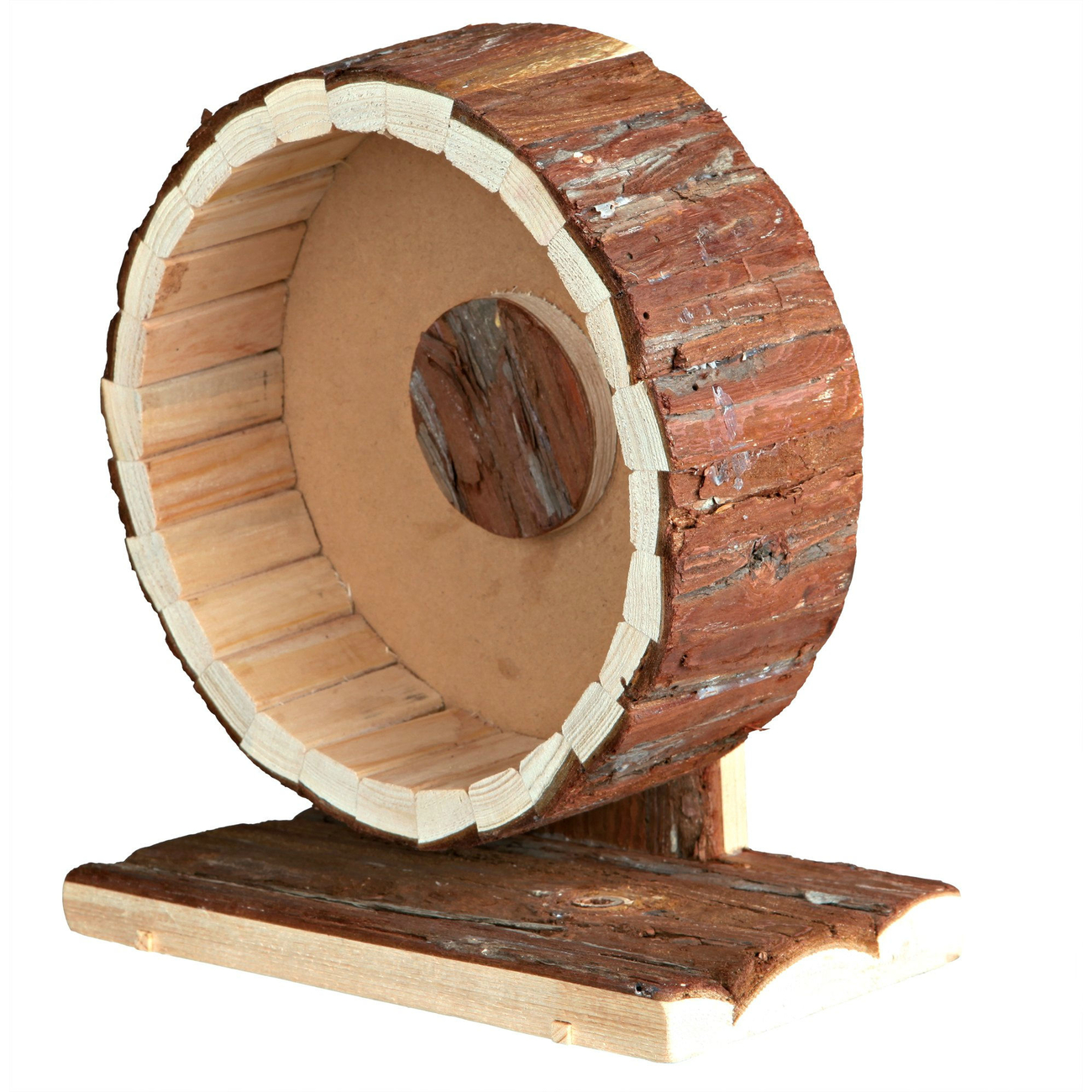 Hamster Laufrad Holz mit Kugellager Bild 1