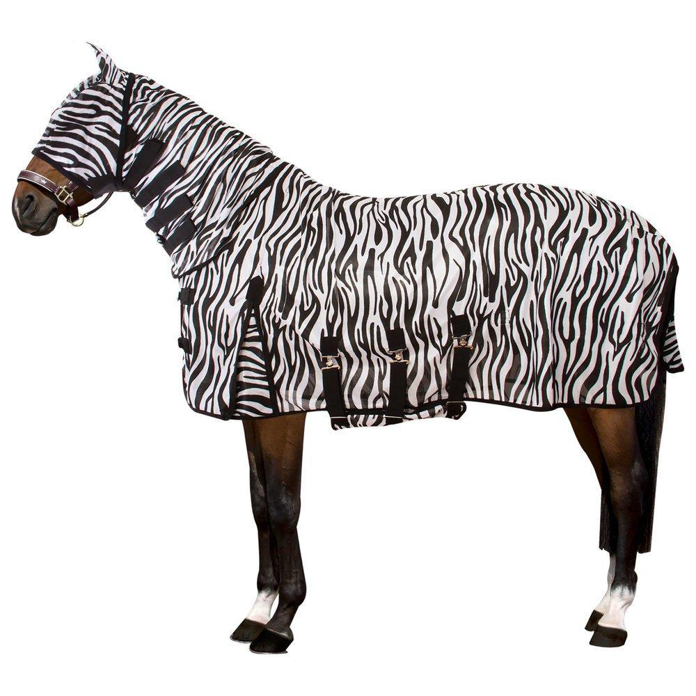 Zebra Fliegendecke mit Halsteil Bild 1