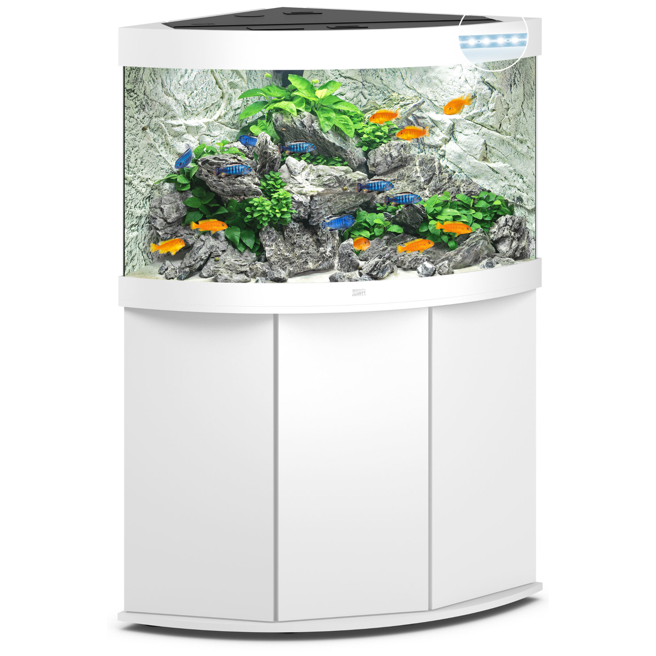 Juwel Trigon 190 LED Eck-Aquarium mit Unterschrank Bild 7