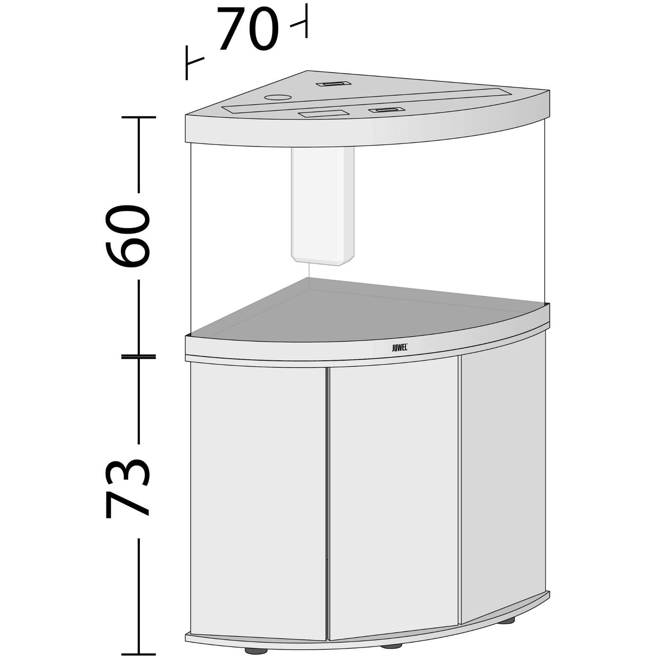 Juwel Trigon 190 LED Eck-Aquarium mit Unterschrank Bild 5