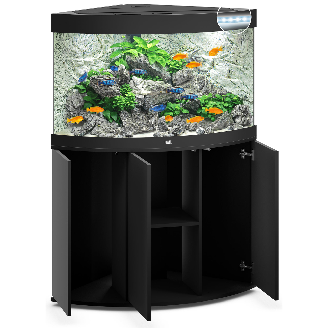 Juwel Trigon 190 LED Eck-Aquarium mit Unterschrank Bild 2
