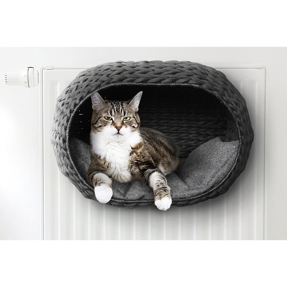 Katzen Heizungskorb Sunrise mit Kissen Bild 2