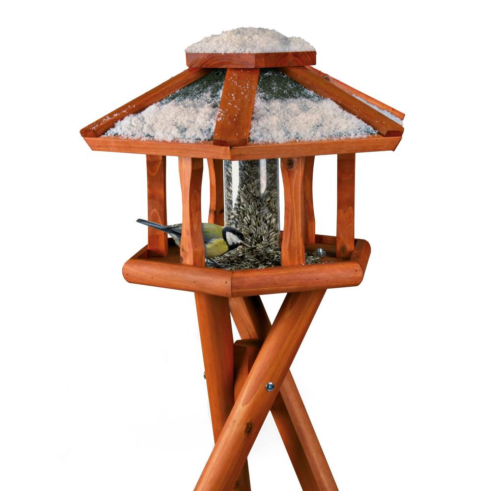 Natura Vogelhaus Futterhaus mit Silo Bild 2
