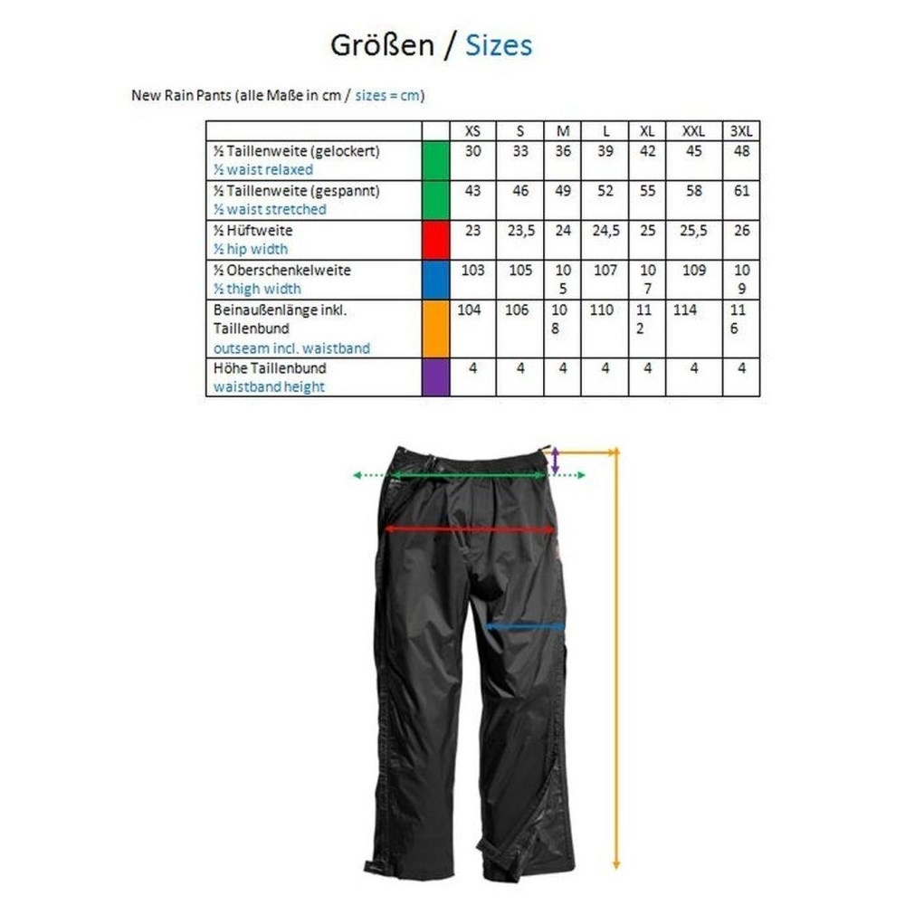 Owney Regenhose unisex New Rain Pants Bild 3