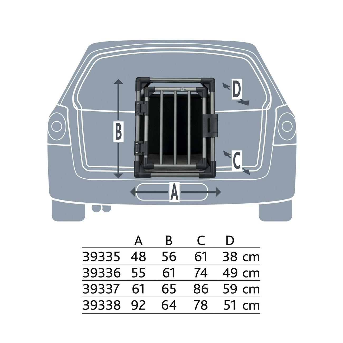 Trixie Autobox für Hunde aus Aluminium, graphit Bild 9