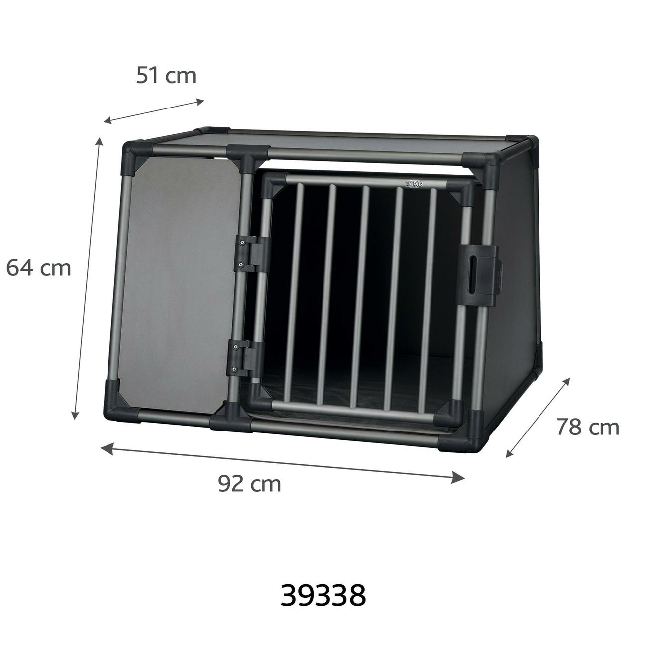 Trixie Autobox für Hunde aus Aluminium, graphit Bild 8
