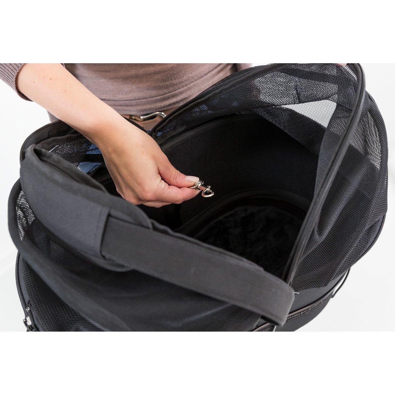 Fahrradtasche mit Metallrahmen für breite Gepäckträger Bild 11