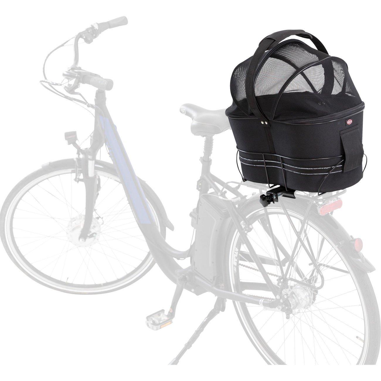 Fahrradtasche mit Metallrahmen für breite Gepäckträger Bild 4