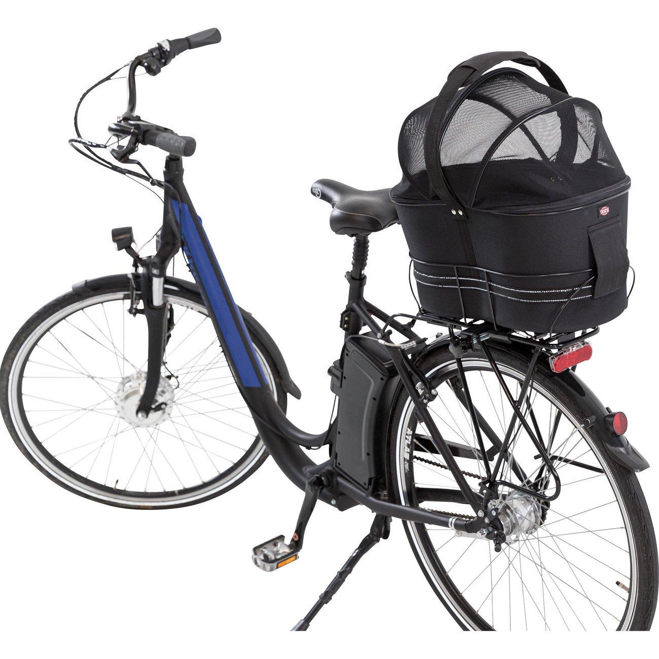 Fahrradtasche mit Metallrahmen für breite Gepäckträger Bild 5