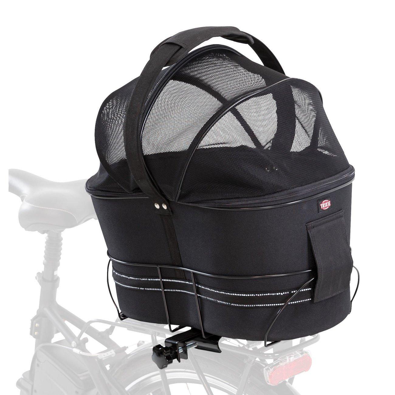 Fahrradtasche mit Metallrahmen für breite Gepäckträger Bild 12