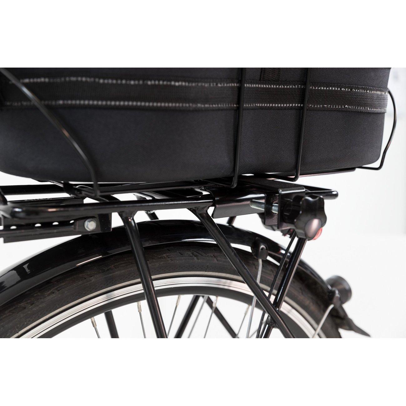 Fahrradtasche mit Metallrahmen für breite Gepäckträger Bild 7