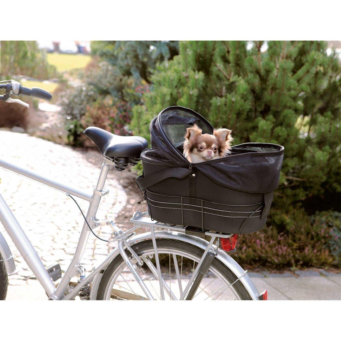 Fahrradtasche mit Metallrahmen für breite Gepäckträger Bild 6