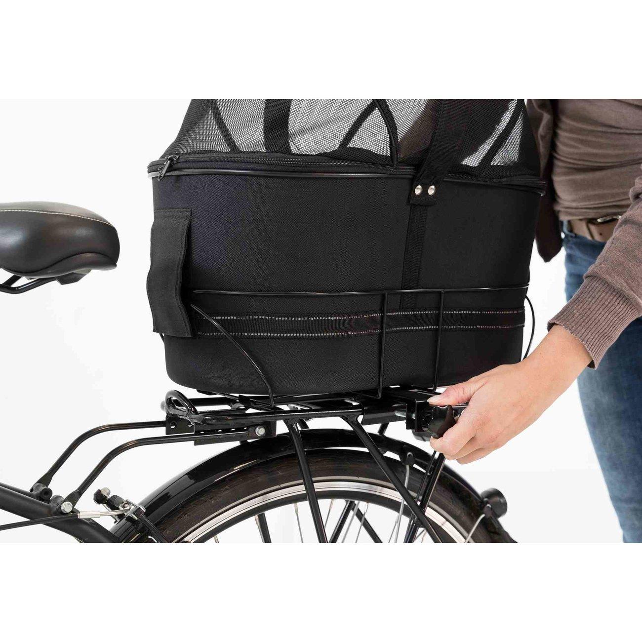 Fahrradtasche mit Metallrahmen für breite Gepäckträger Bild 13