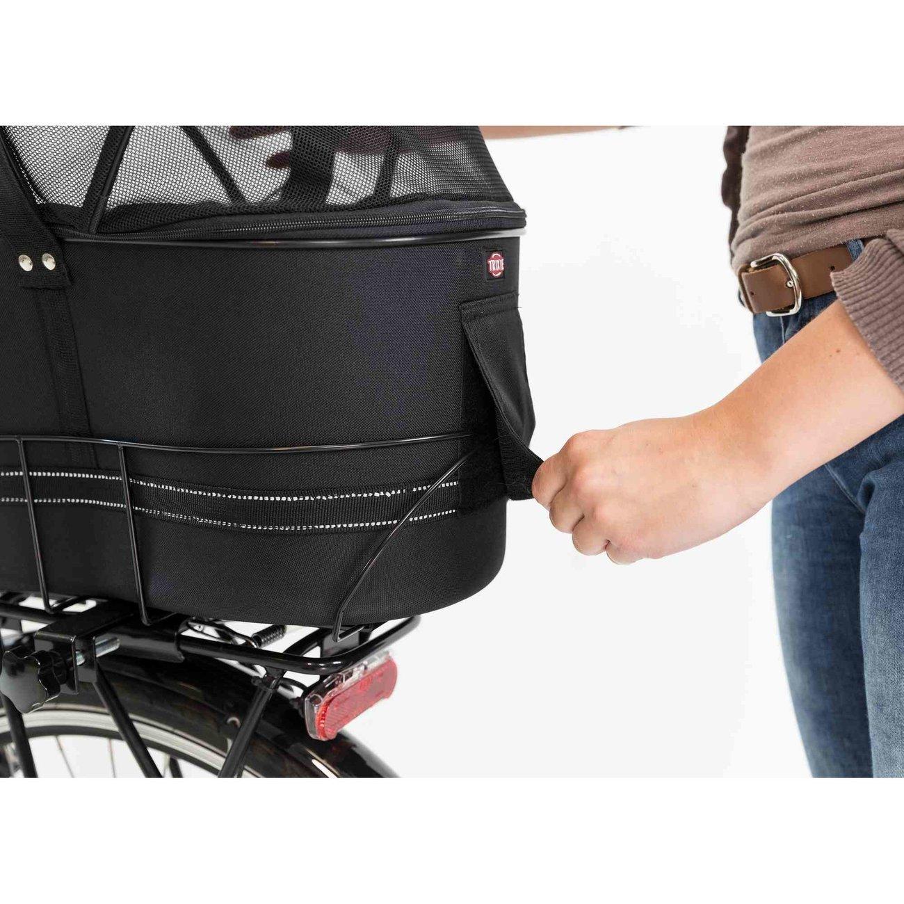 Fahrradtasche mit Metallrahmen für breite Gepäckträger Bild 14